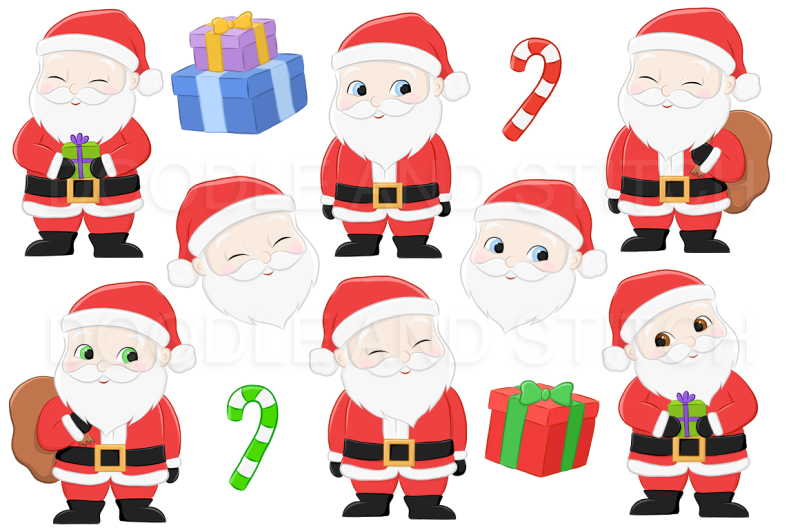 santa-christmas-clipart-illustrations