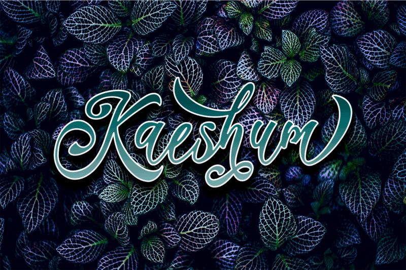 kaeshum-script-bold