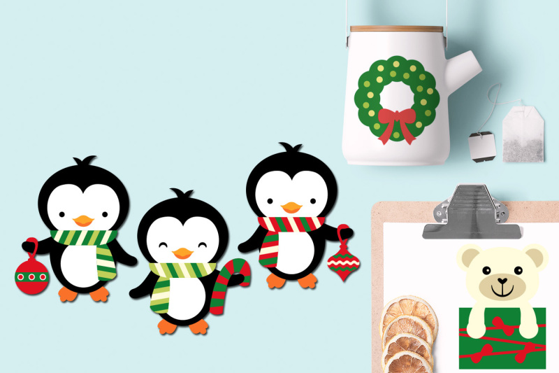 christmas-polar-bears-and-penguins