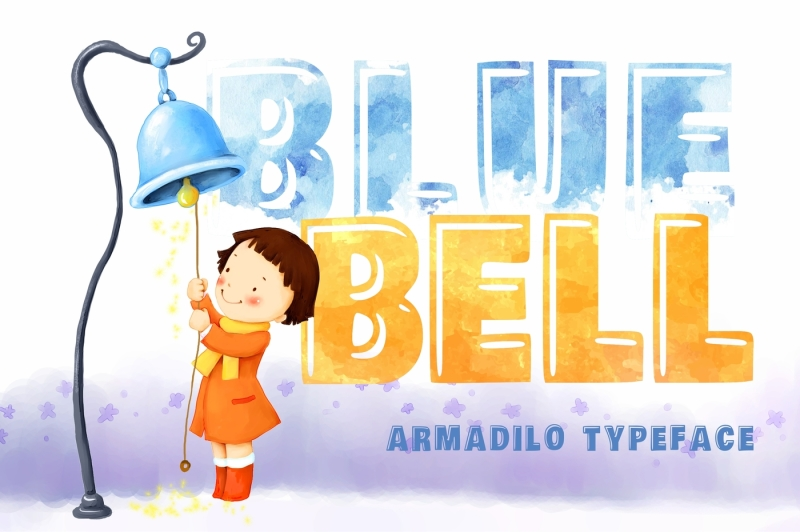 blue-bell-covered-armadilo-typeface
