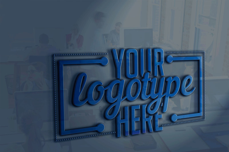 Free Logotype mock-up Design Presentation (PSD Mockups)