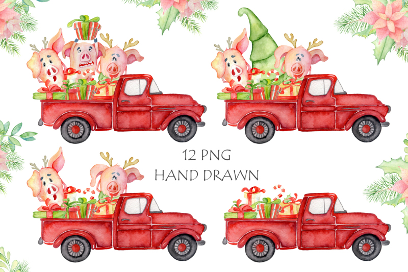christmas-cute-pigs-collection