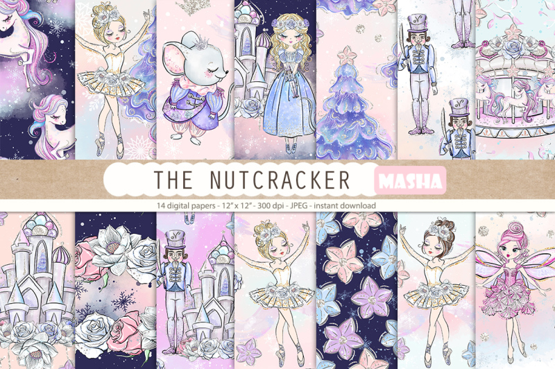the-nutcracker-digital-papers