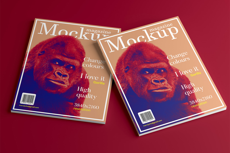 Free Magazine mockup (3 different shots) (PSD Mockups)