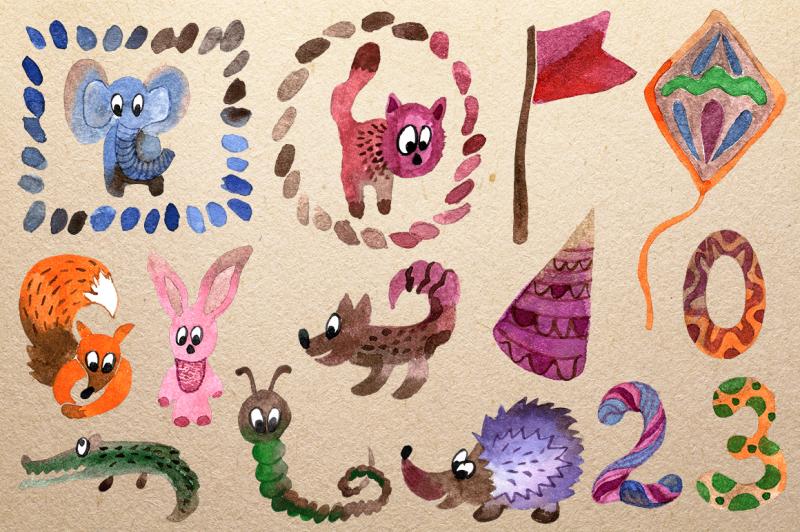 cute-watercolor-animals