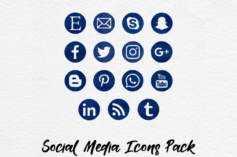 watercolor-social-media-icons