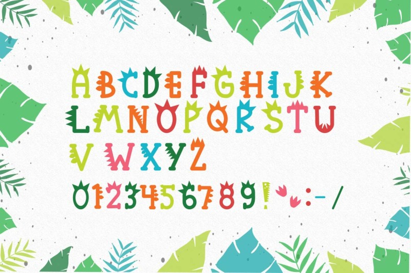 roarr-dino-party-a-funny-uppercase-font