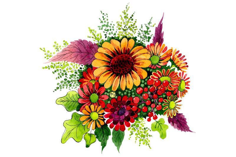 bouquet-of-wild-flowers-png-watercolor-set