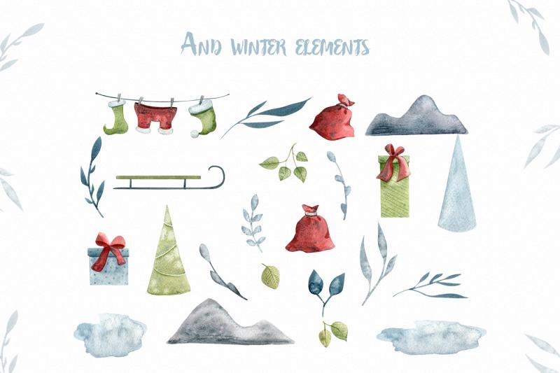 hello-santa-watercolor-clipart