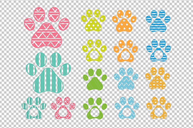 dog-paw-monogram-svg-dxf-cut-files-vector