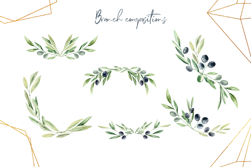 watercolor-olive-branches