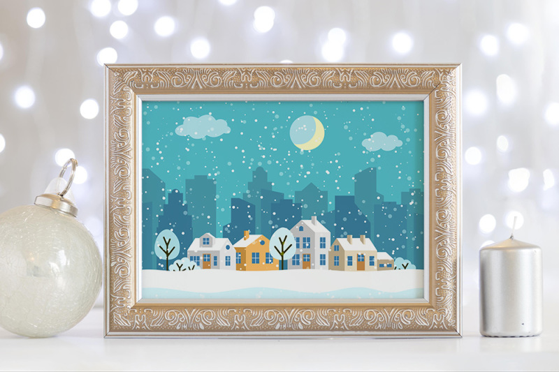 winter-christmas-landscapes-with-houses