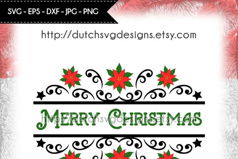 2-split-monogram-cutting-files-christmas-svg-poinsettia-svg