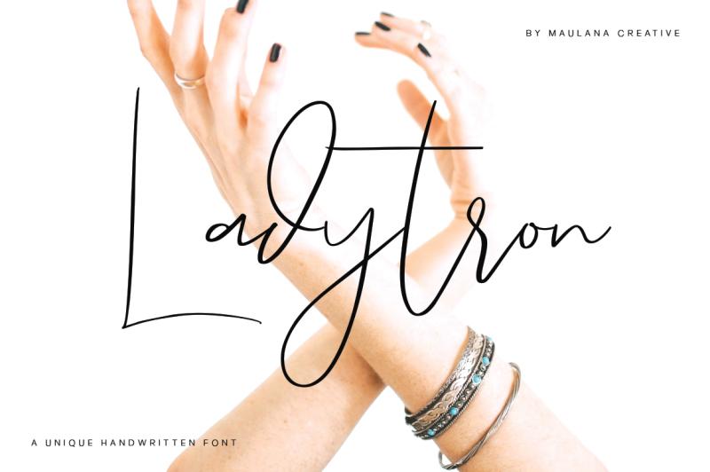 ladytron-script-logo-font