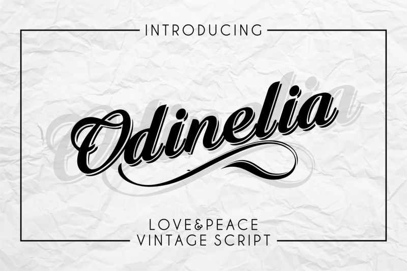 odinelia-love-and-peace-vintage-script