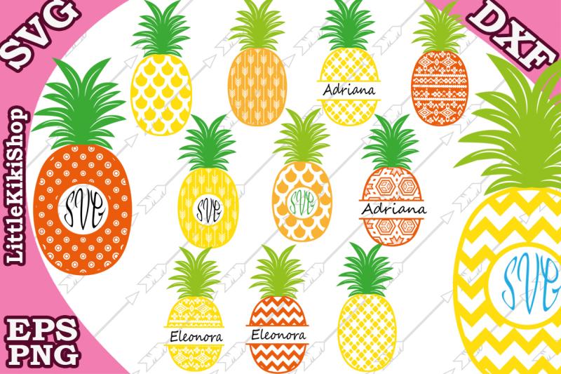 pineapple-svg-pineapple-monogram-monogram-frames
