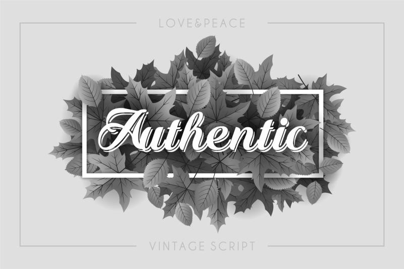 authentic-love-and-peace-vintage-script