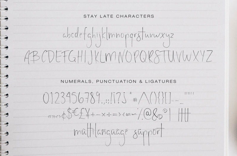stay-late-a-handwritten-font