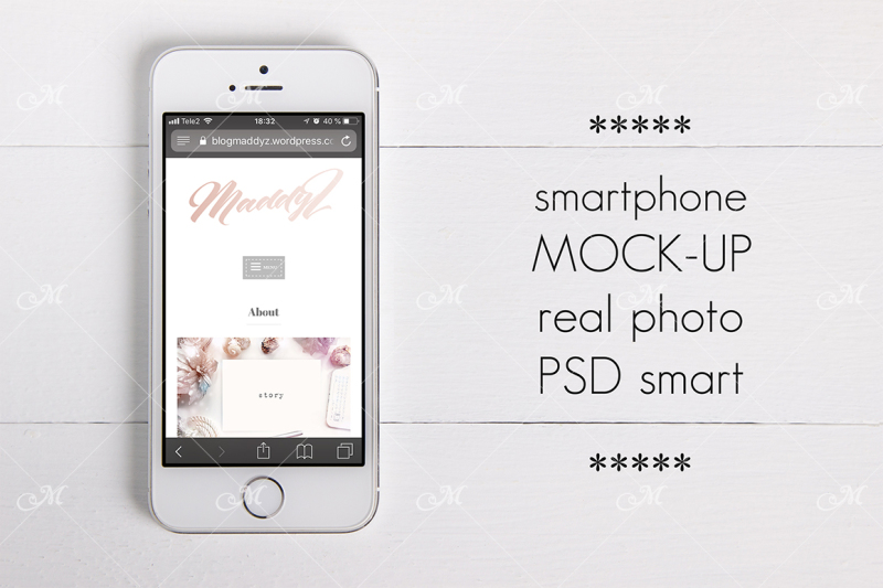 Free Smartphone Mock-up. PSD Smart Object (PSD Mockups)