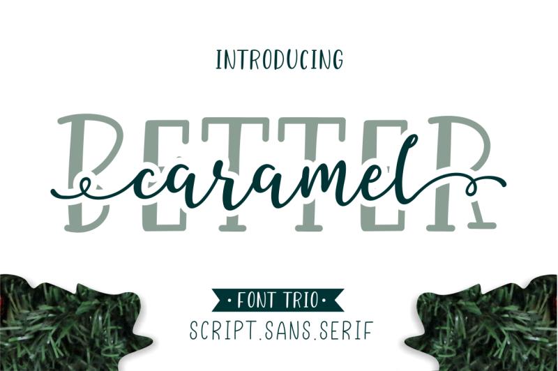better-caramel-font-trio