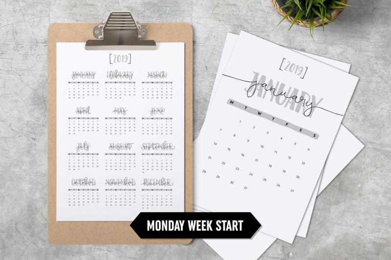 calendar-2019-a4-minimalistic