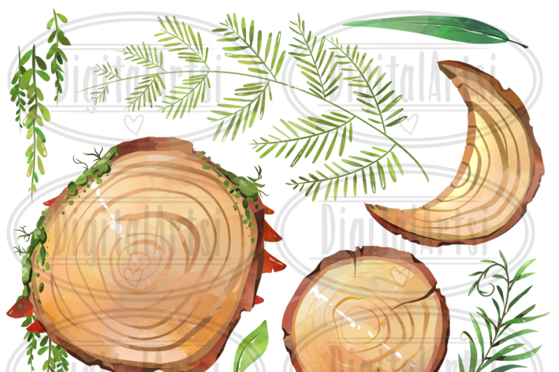 watercolor-wood-slices-clipart
