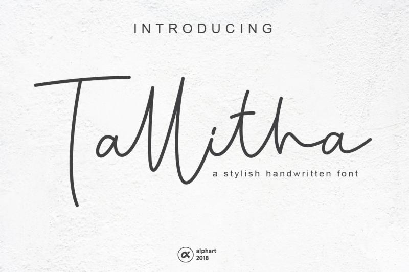 tallitha-a-stylish-handwritten-font