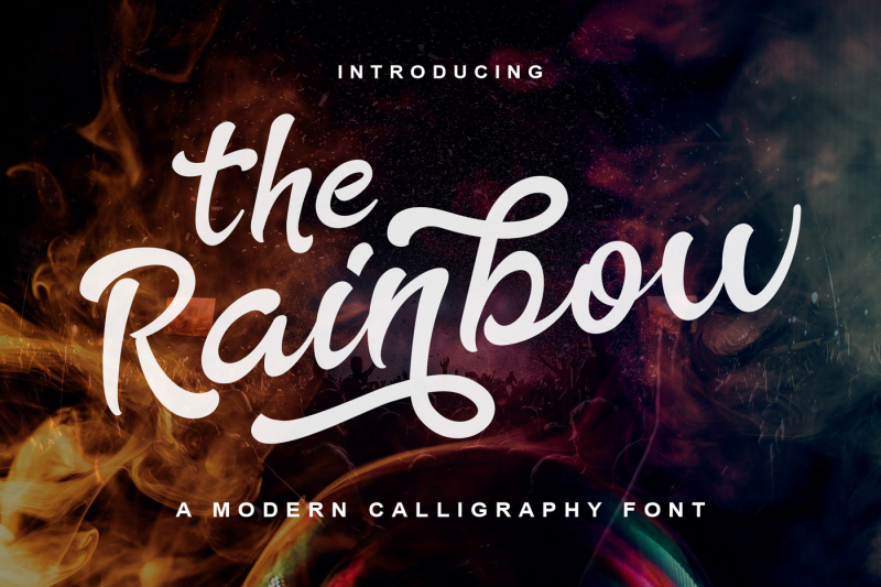 the-rainbow-modern-calligraphy-font