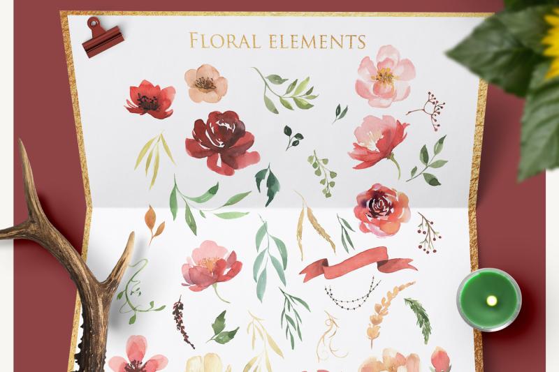 Floral Set Christmas Color By Pamyatka Thehungryjpeg Com