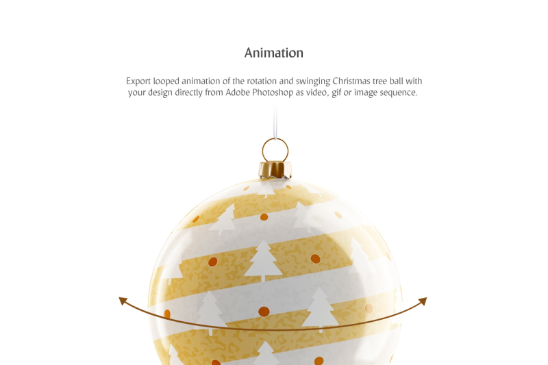 Christmas Tree Ball Animated Mockup By Rebrandy Thehungryjpeg Com
