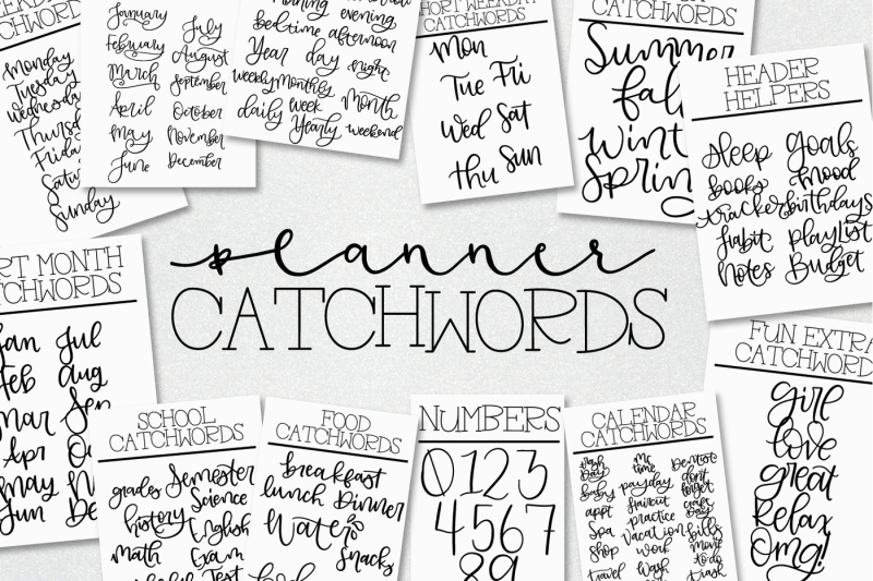 planner-catchwords