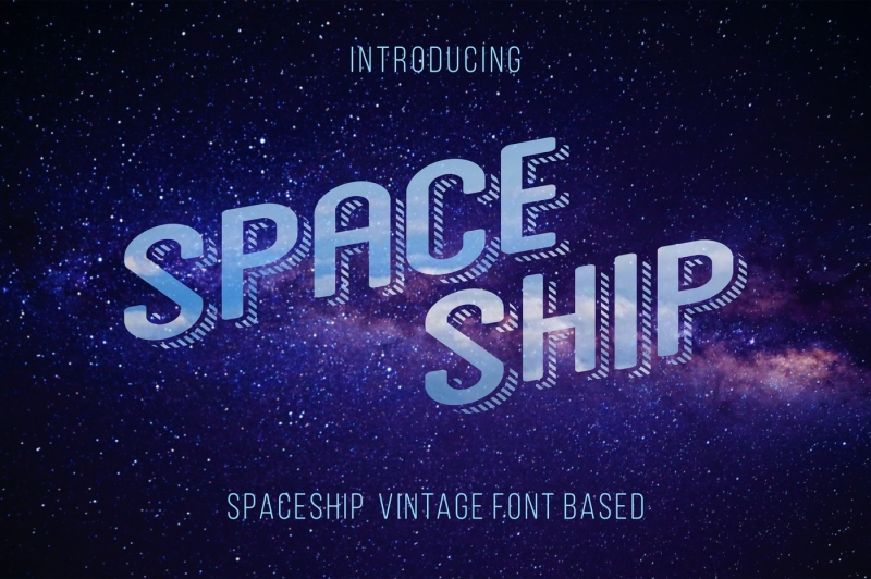 space-ship-font