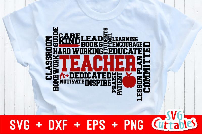 teacher-word-art-cut-file