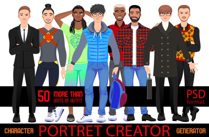 character-portrait-creator-man-psd
