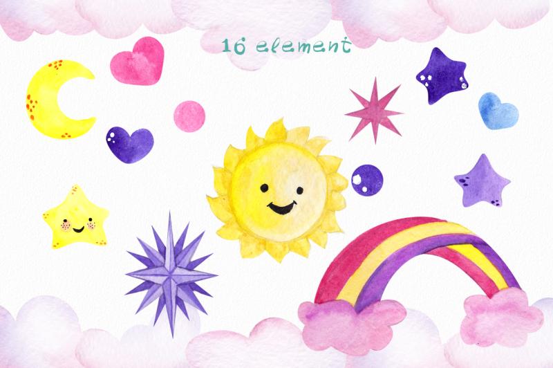 be-unicorn-watercolor-illustration