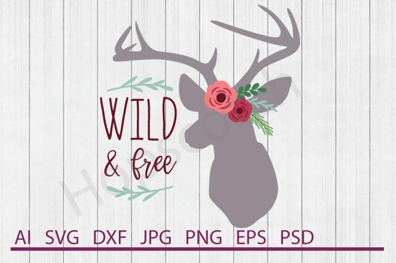 floral-deer-svg-floral-deer-dxf-cuttable-file