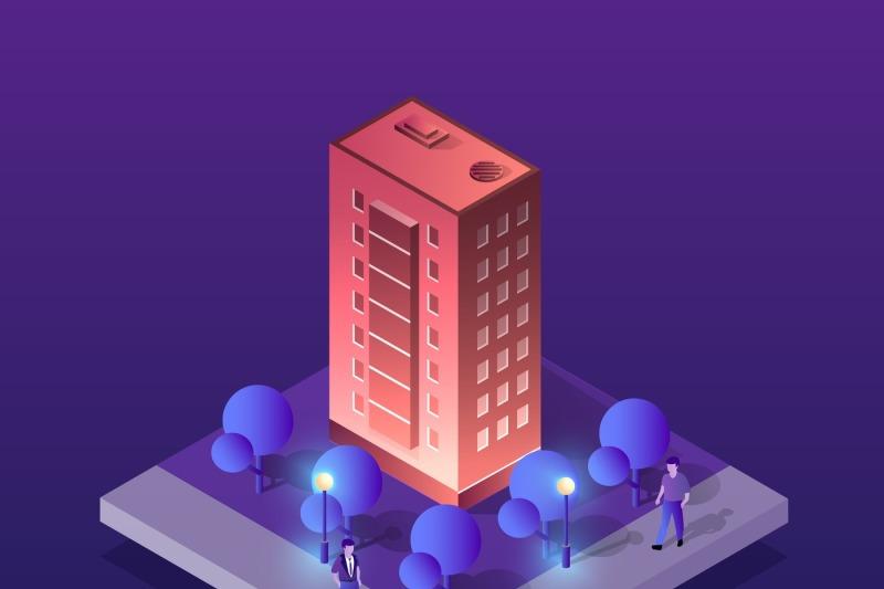 vector-isometric-urban-architecture
