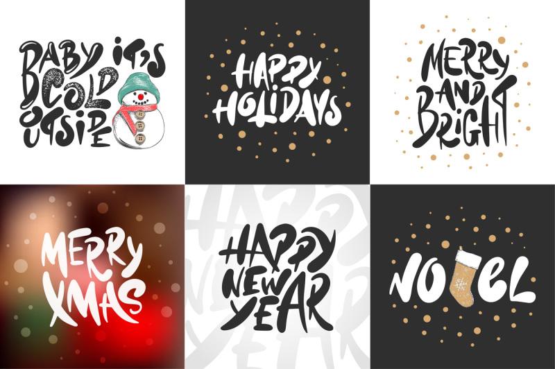 winter-holidays-hand-drawn-art-set