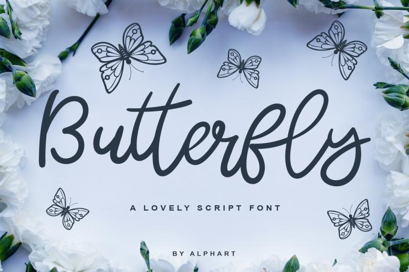 butterfly-a-lovely-script-font-font