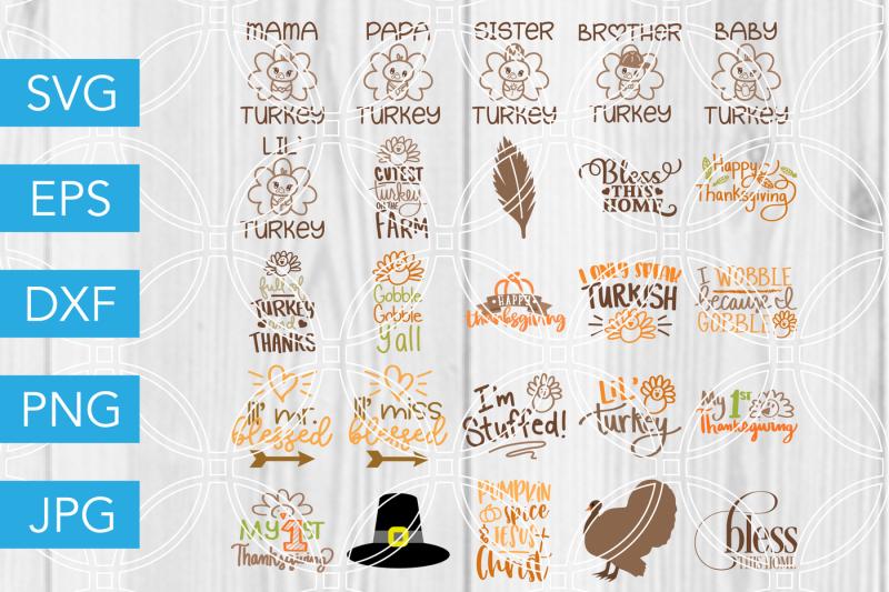 thanksgiving-bundle-svg-dxf-eps-jpg-cut-file-cricut-silhouette-cameo