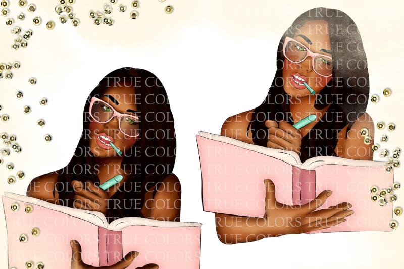 dark-skin-planner-girl-clip-art-fashion-illustration