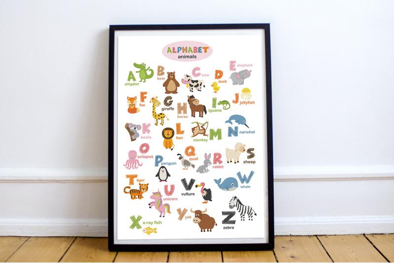 alphabet-with-animals