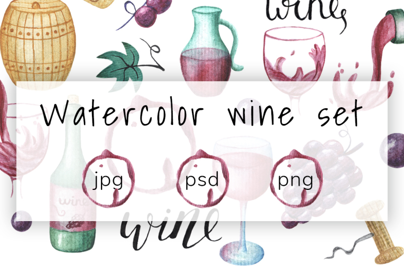 watercolor-wine