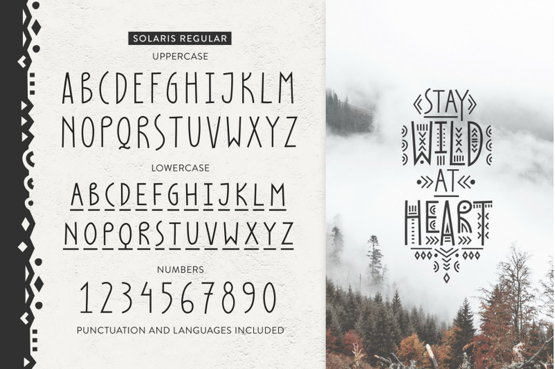 Solaris Tribal Font Family By Struvictory Art Thehungryjpeg Com