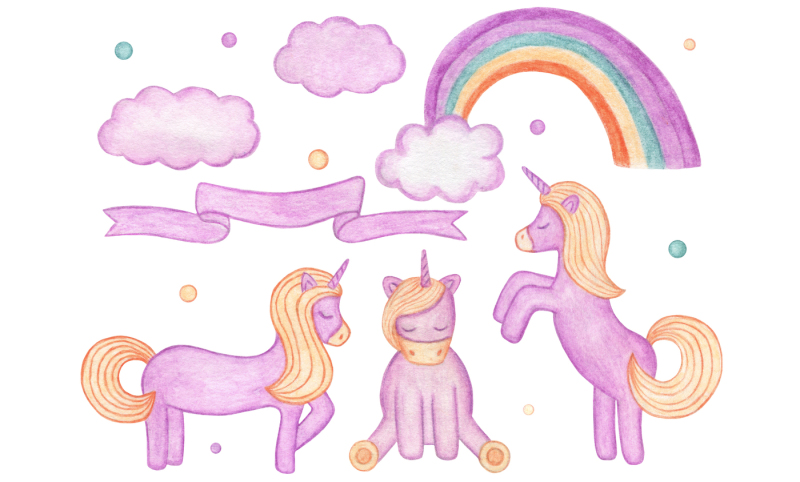 watercolor-unicorn-mini-set