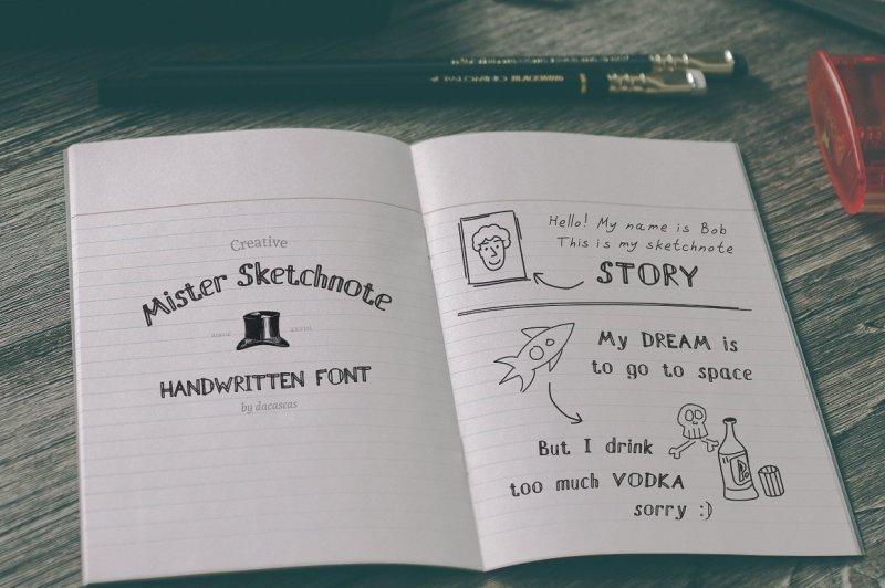 mister-sketchnote-handwritten-font
