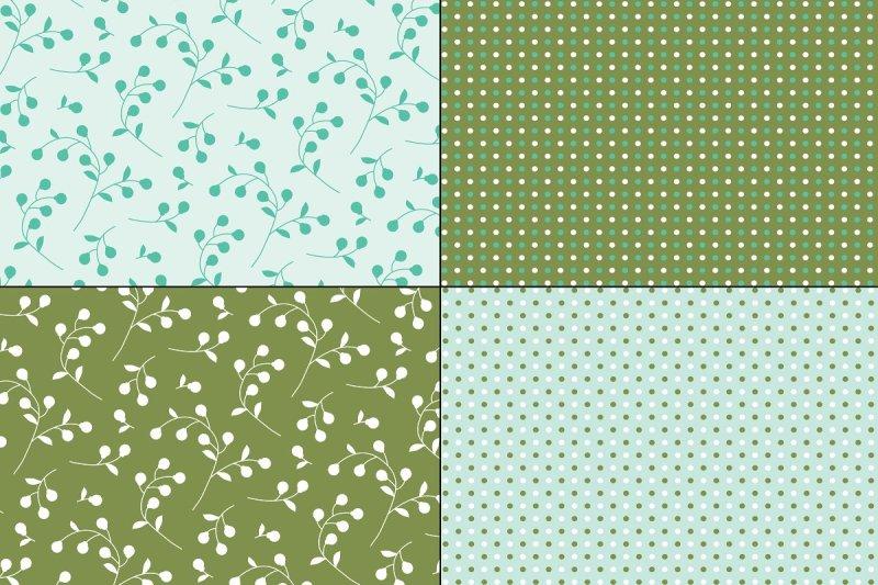 blue-green-florals-and-polka-dots