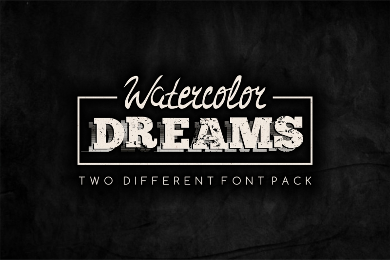 watercolor-dreams-two-different-font-set