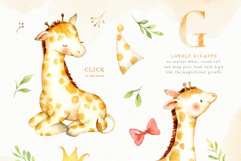 lovely-giraffe-watercolor-clip-art