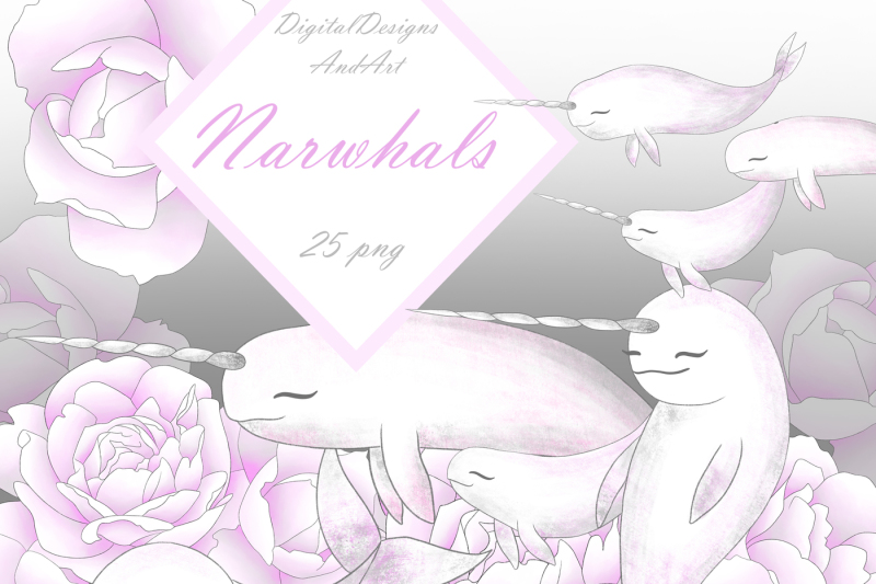 narwhals-clipart